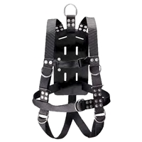 IST Commercial Diving Bell Harness w/ Rubber Back Plate & Crotch Straps ADCI Approved