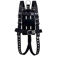 IST Commercial Diving Bell Harness w/ Rubber Back Plate, Roller Buckles & Crotch Straps ADCI Approved