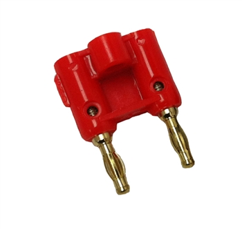 Dual Pin Banana Plug - Red