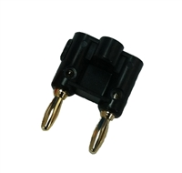 Dual Pin Banana Plug - Black