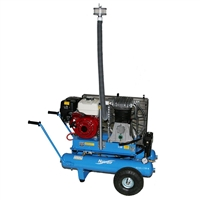 Nuvair Nomad w/ 4.8 hp Honda Gas Low Pressure Air Compressor 13 CFM @ 145 psi w/ Filtration