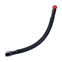 "Bail Out Hose 10"" Female 3/8"" SCUBA to Male 1/4"" NPT"
