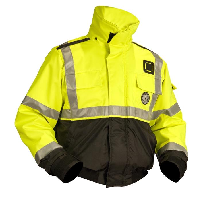 mustang survival ansi high visibility flotation jacket