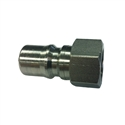 "Eaton Hansen ML2K16 ISO-B Interchange Hydraulic 1/4"" Male Stainless Steel Quick Disconnect Fitting"