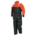 Mustang Survival Deluxe Anti-Exposure Coverall & Worksuit - Size XL, Black/Orange