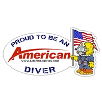 Proud To Be An American Diver - Patriot Die Cut Sticker