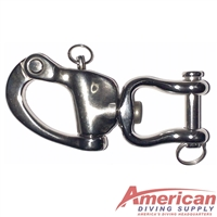 Black Rock Jaw Swivel 316 Stainless Steel Snap Shackle