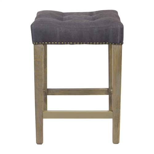 Shawne Ash Counter Stool in Frost Grey