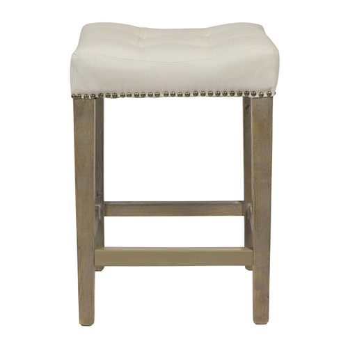 Shawne Ash Counter Stool in Beige