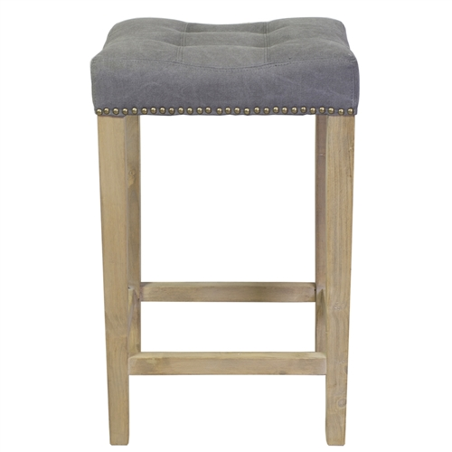 Ash Bar Stool in Frost Grey (No Kickplate)