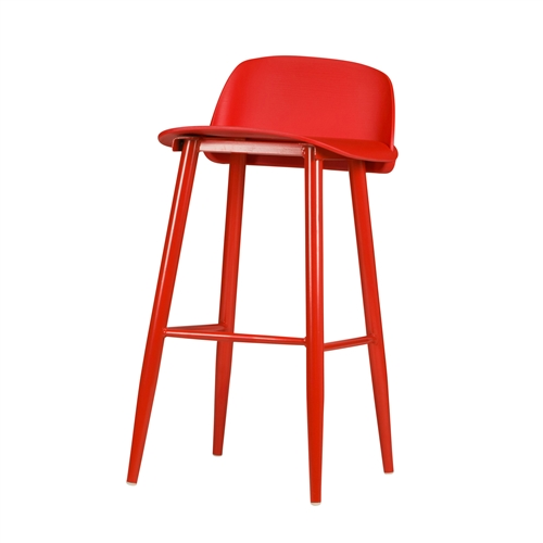 SoCo Counter Stool in Red