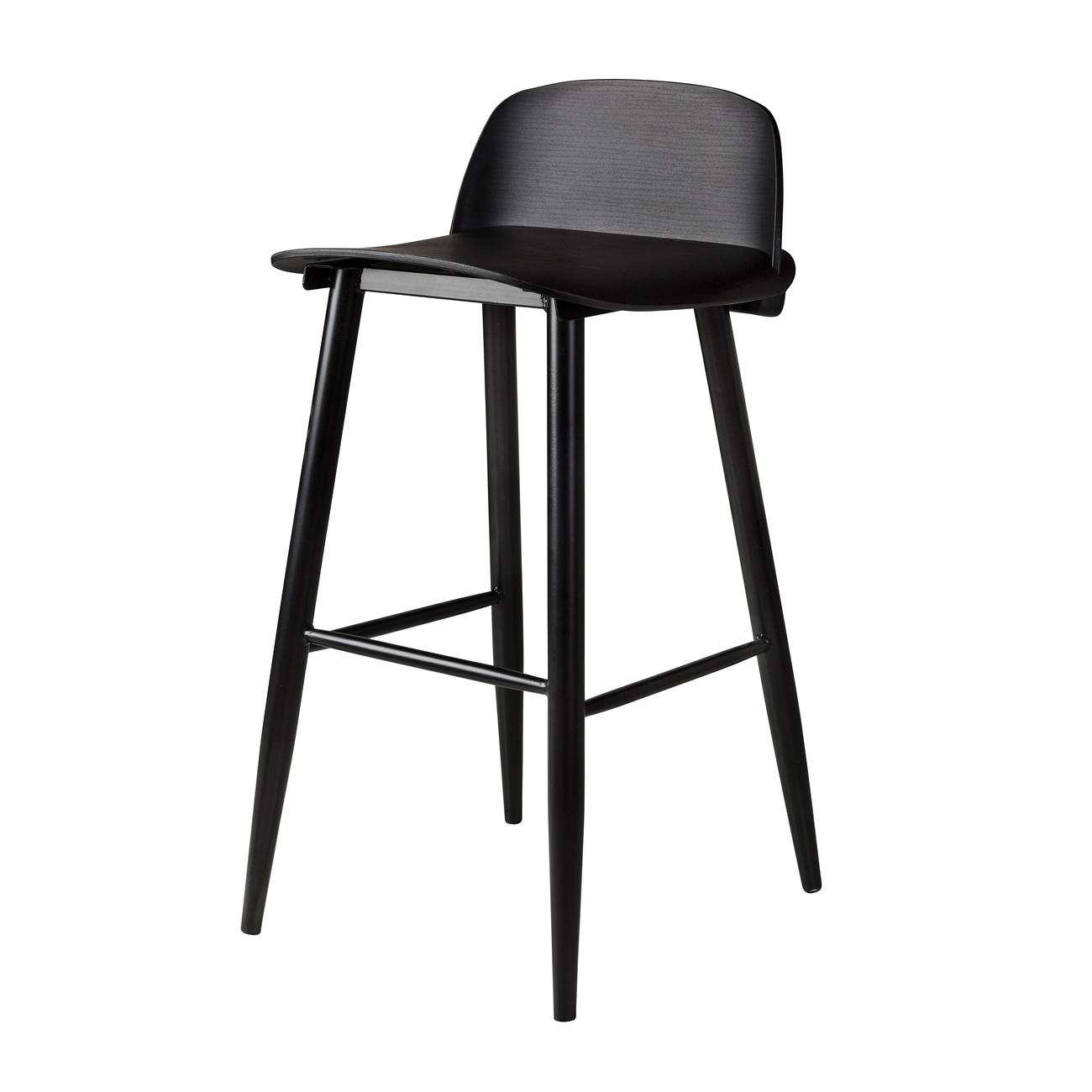 Pleasing Nerd Replica Bar Stool In Black The Khazana Home Austin Furniture Store Pabps2019 Chair Design Images Pabps2019Com