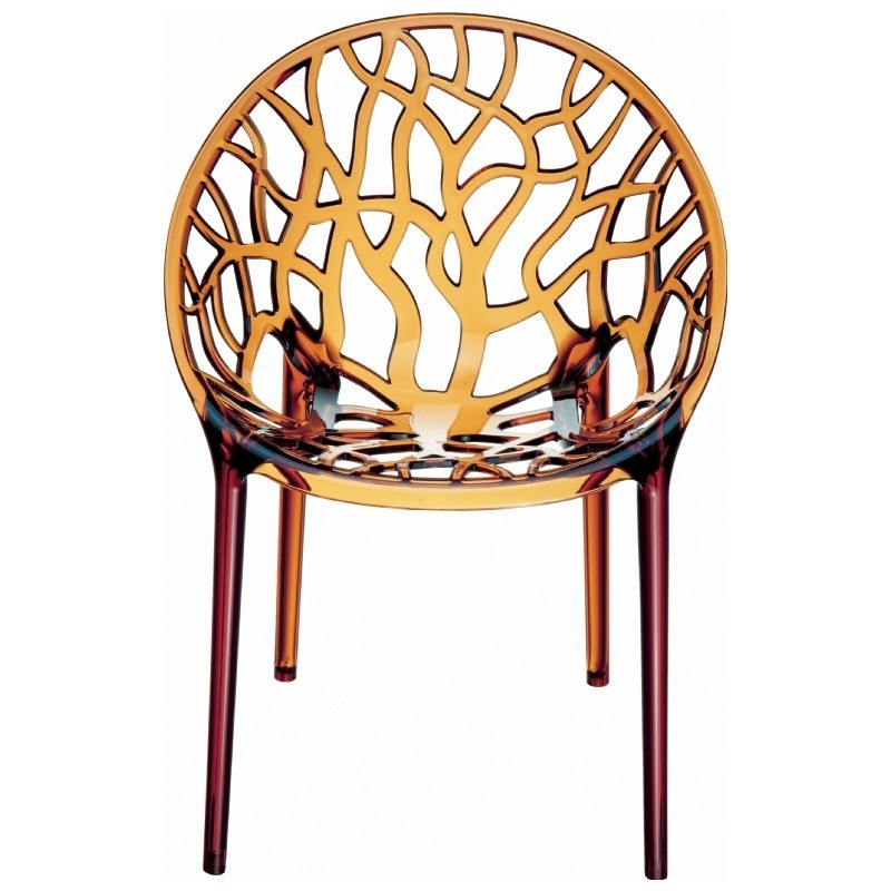 Crystal Chair In Amber