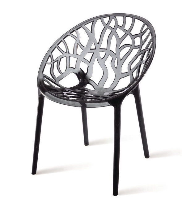 Crystal Chair In Smoke