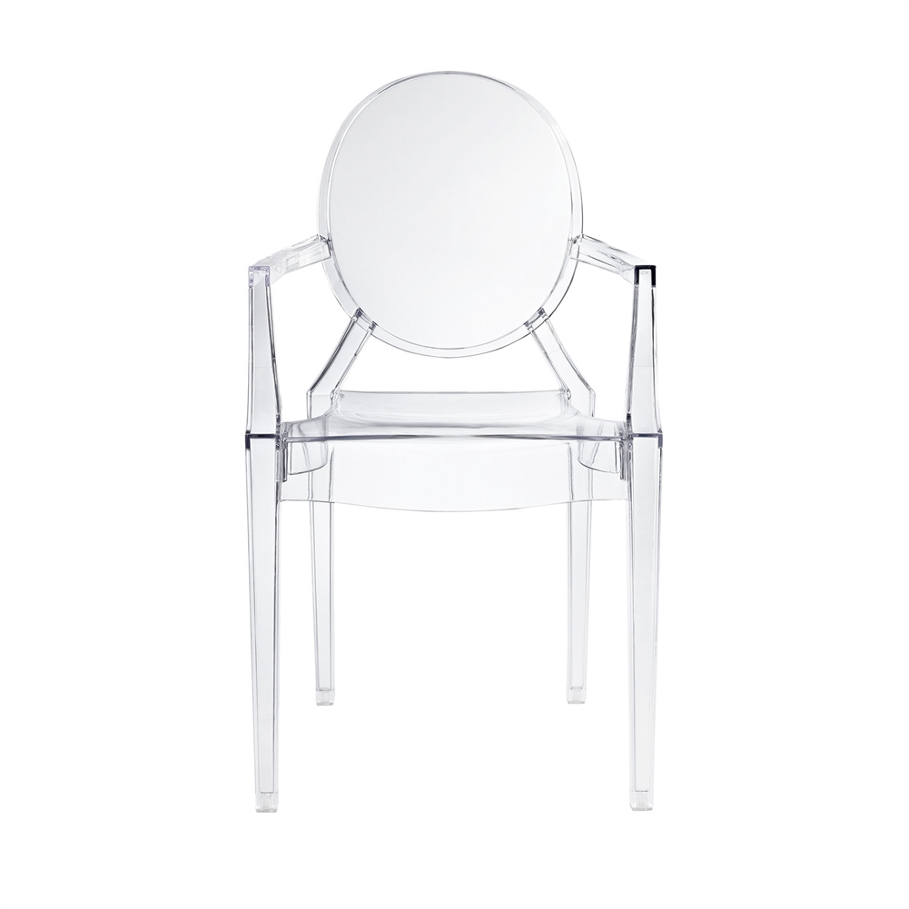 Merveilleux Ghost Arm Chair In Clear