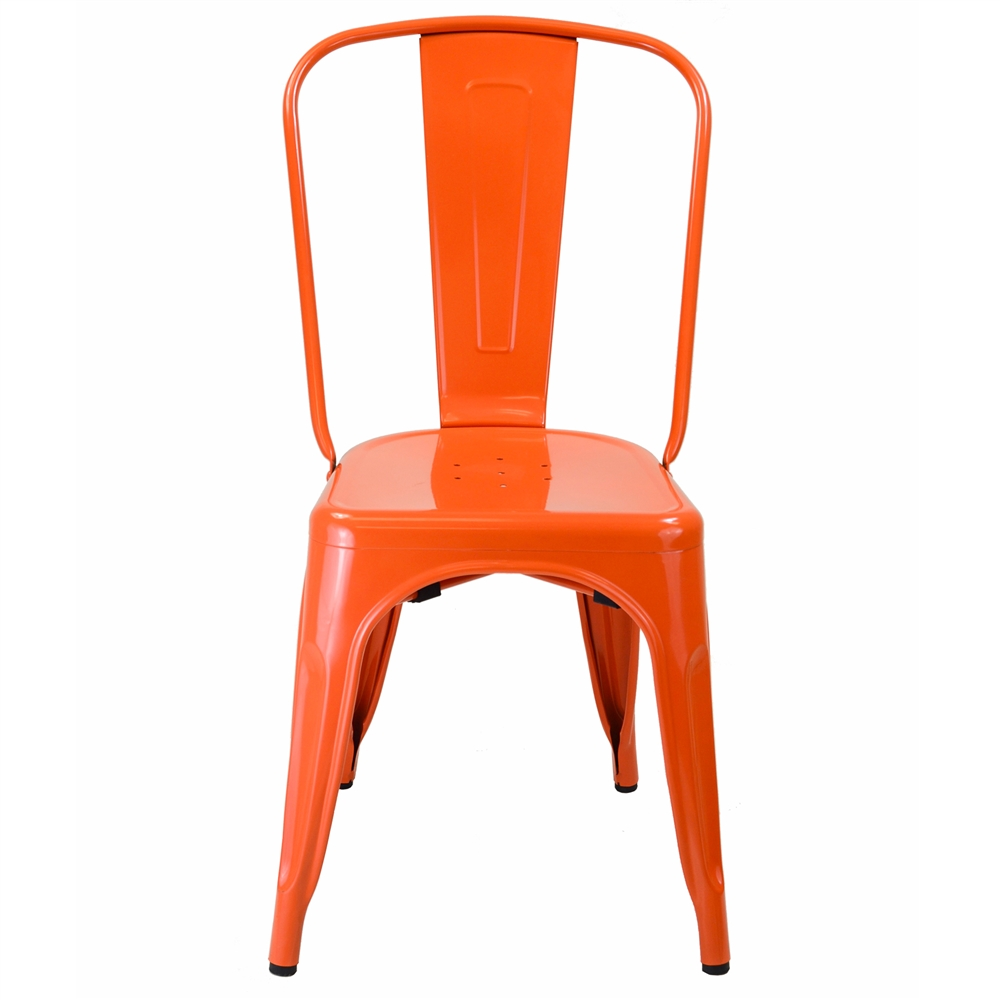 Bon Bastille Side Chair In Orange Galvanized Steel