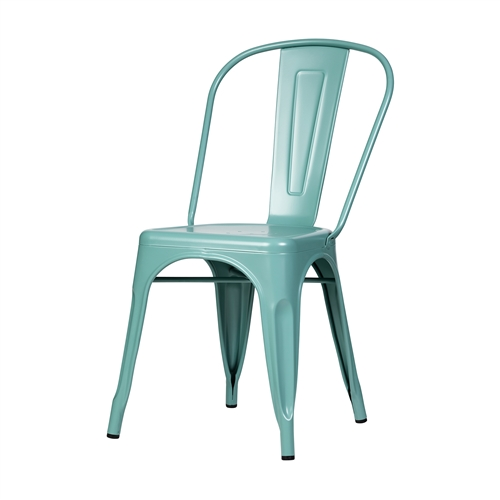 Bastille Side Chair in Teal Blue