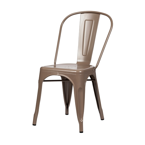 Bastille Side Chair in Dark Taupe