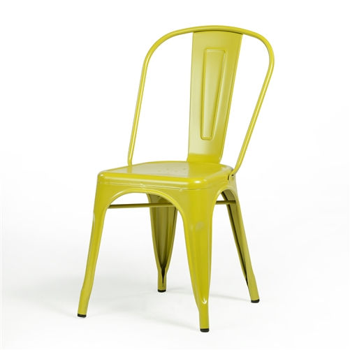 Bastille Side Chair in Mustard Green