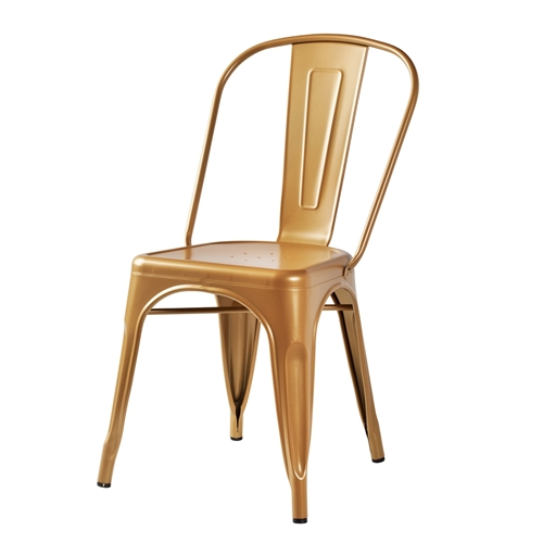 Bastille Side Chair in Gold