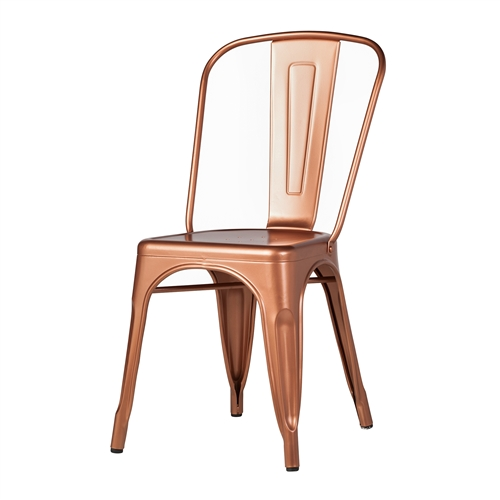 Tolix Side Chair in Copper Galvanized Steel