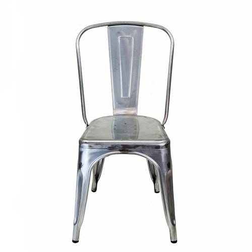 Bastille Side Chair in Gun Metal Galvanized Steel