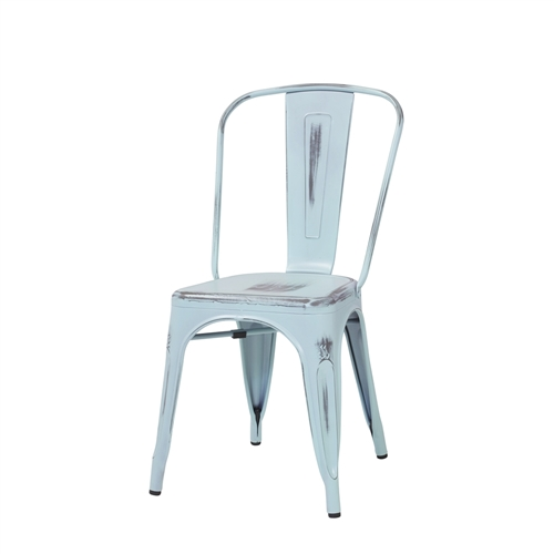 Bastille Side Chair in Antique Blue