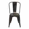 Bastille Side Chair in Dark Gun Metal