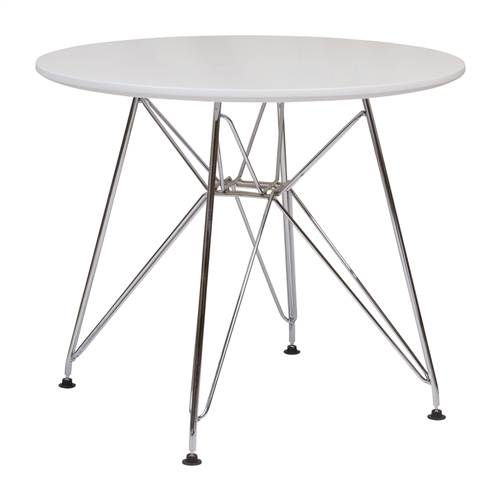 Eames Style Side Table with Stainless Steel Eiffel Base