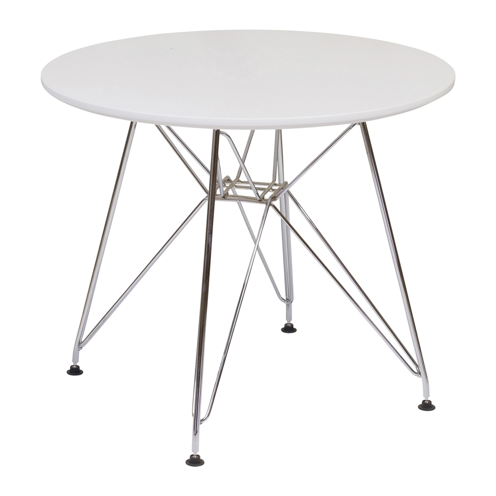 Mid Century Side Table With Stainless ...