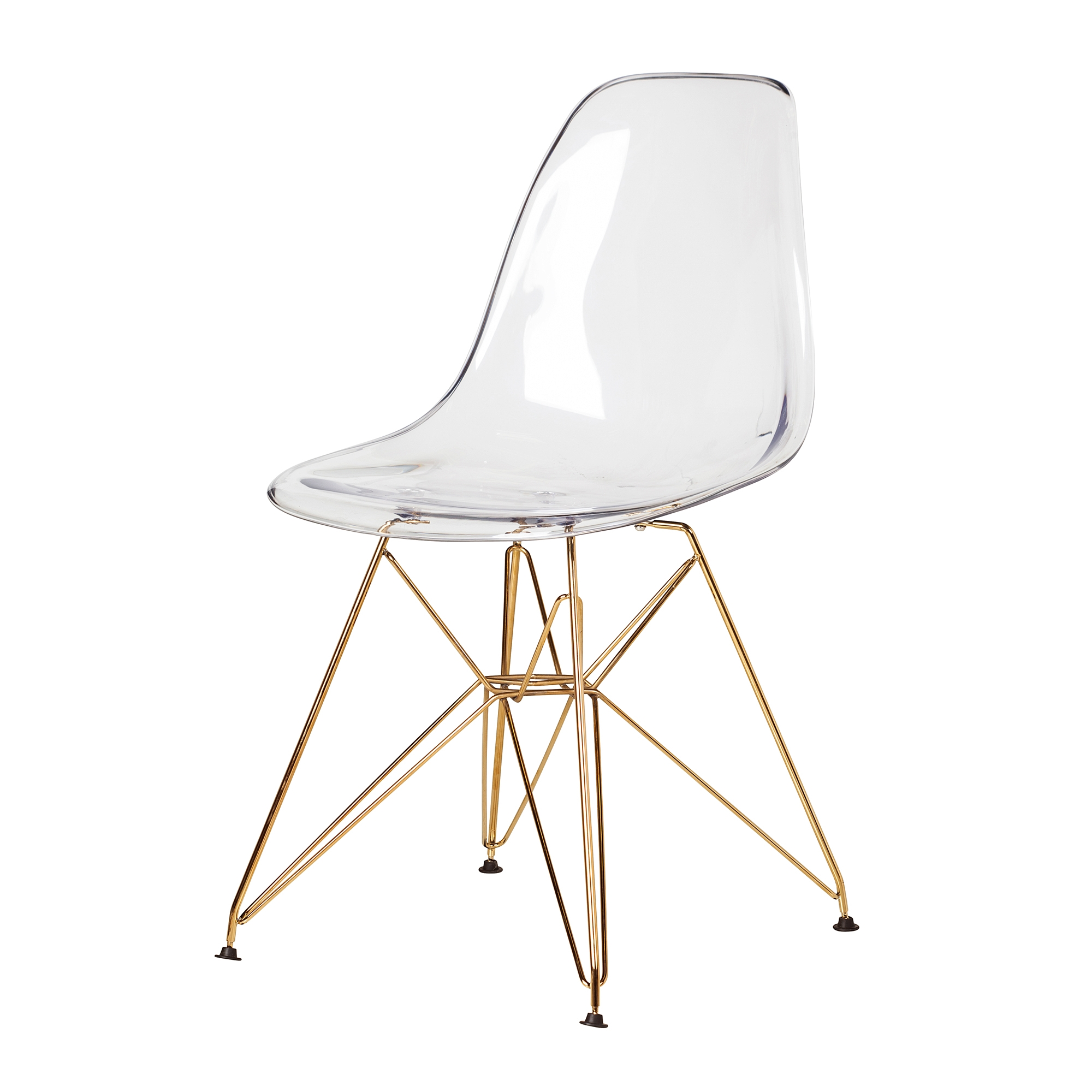 Marvelous Eames Dsr White Side Chair Eiffel Legs The Khazana Home Austin Furniture Store Onthecornerstone Fun Painted Chair Ideas Images Onthecornerstoneorg