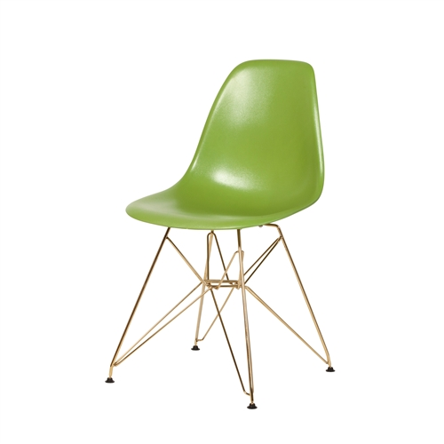Mid Century DSR Side Chair Mid Century Modern, Lime Green