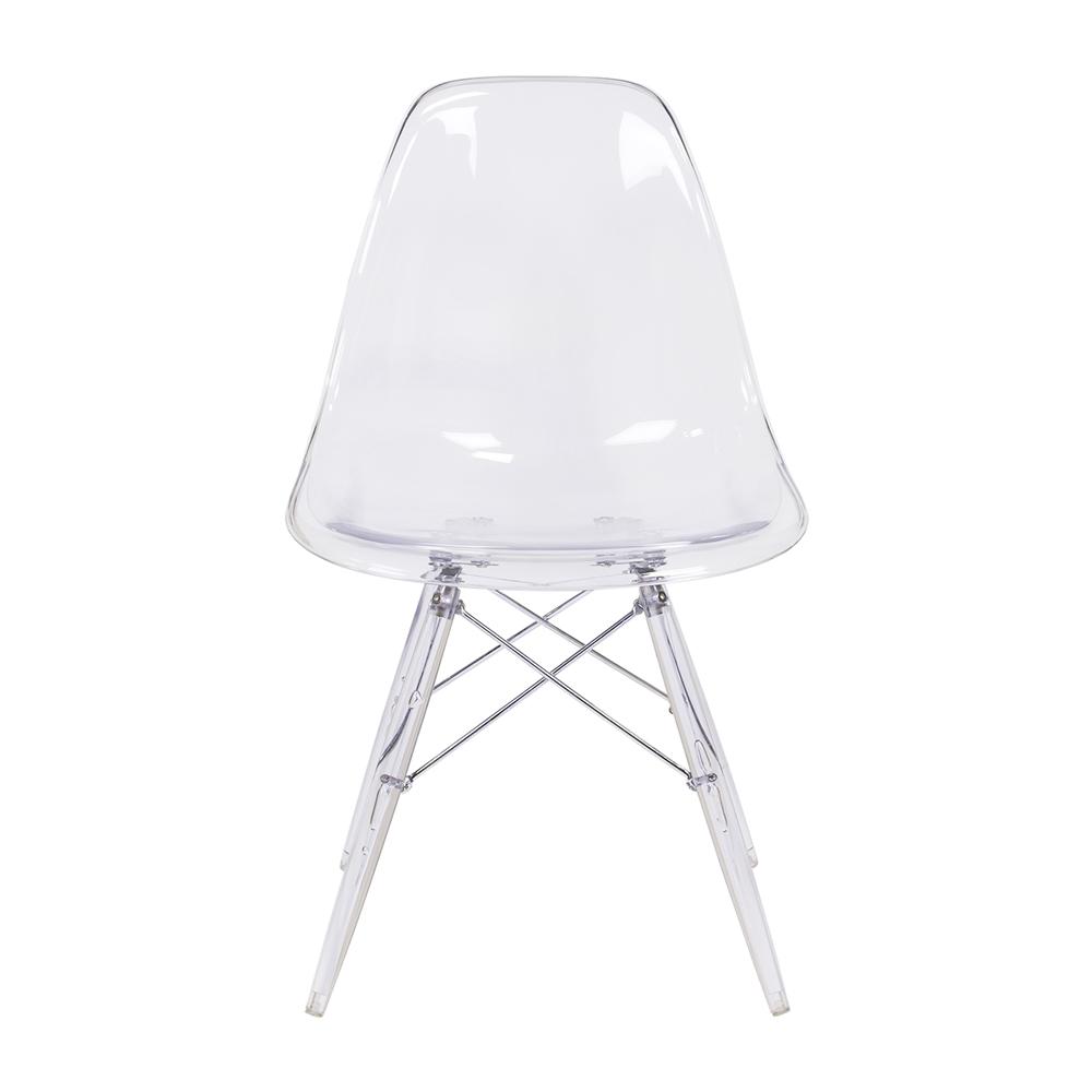Eames Side Chair eames clear dsw chair clear eiffel legs the khazana home