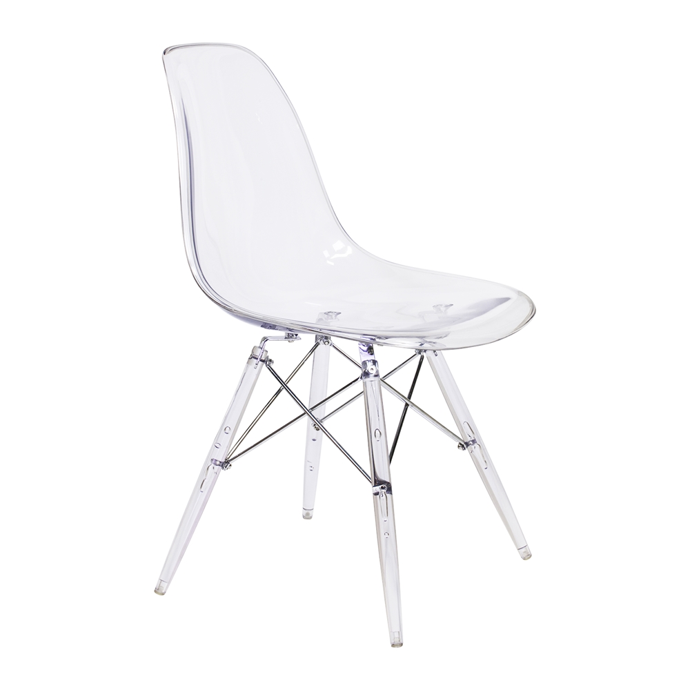 Exceptionnel Charles Eames DSW Style Side Chair   Clear ...