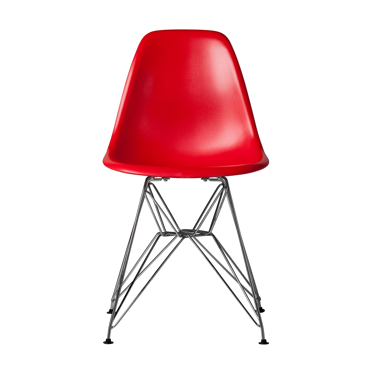 Bon Charles Eames DSR Style Red Side Chair