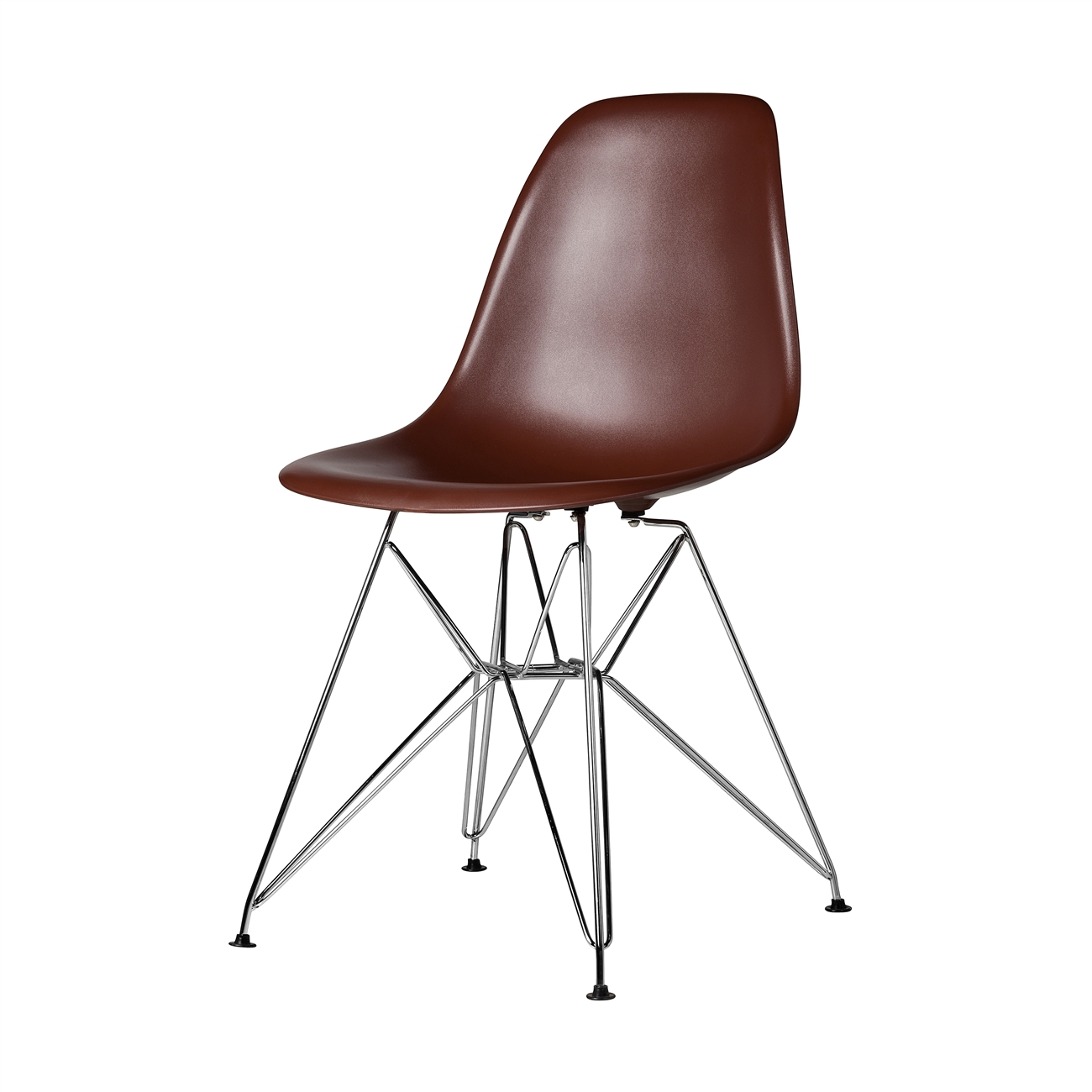 Charles Eames DSR Style Brown Side Chair