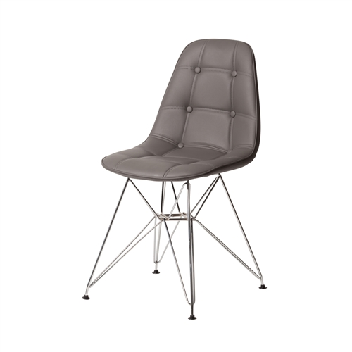 Charles Eames DSR Style White Side Chair