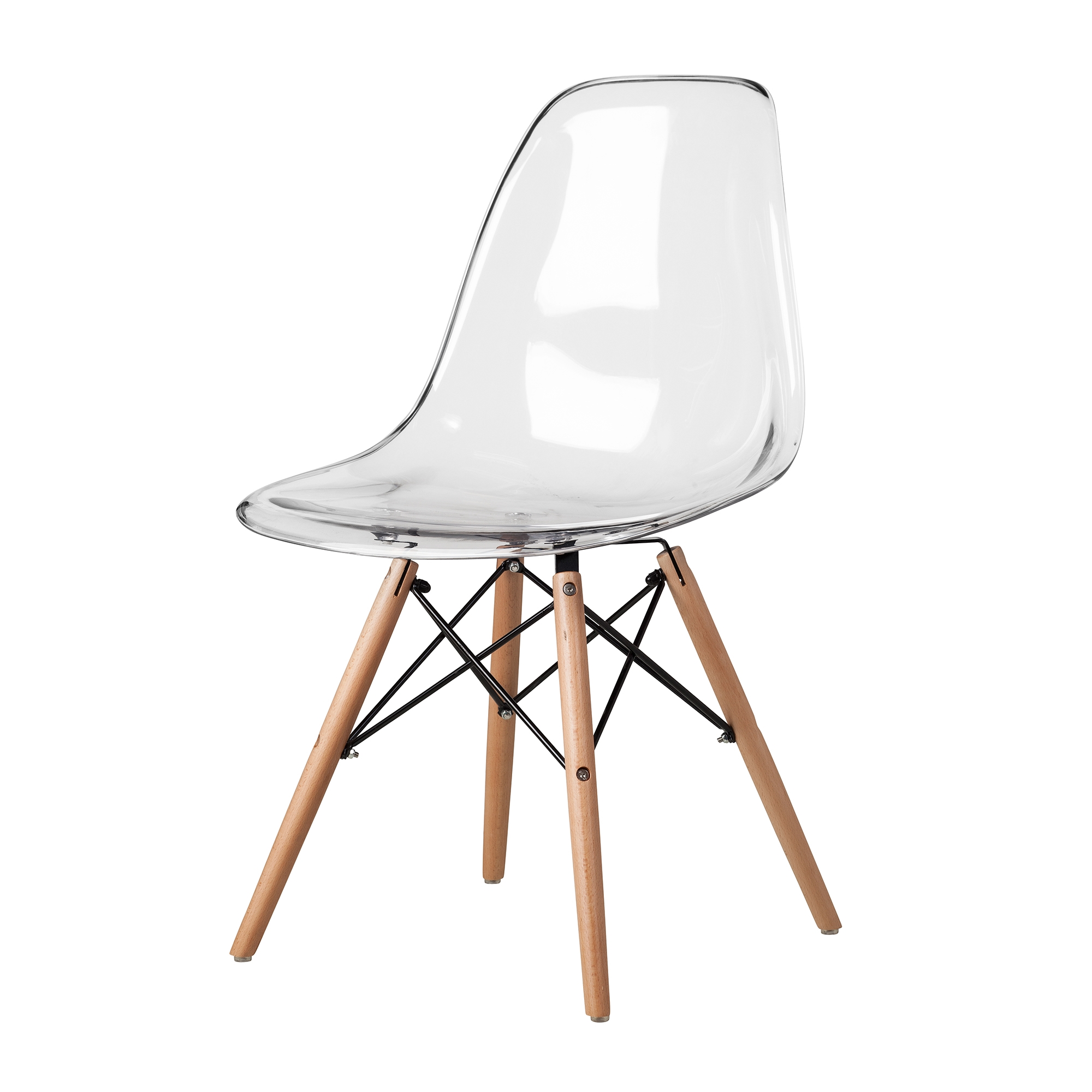 ... Chair Mid Century Modern Clear Plastic Larger Photo Email A Friend  sc 1 st  The Khazana & Charles Eames DSW Side Chair Mid Century Modern Clear Plastic ...