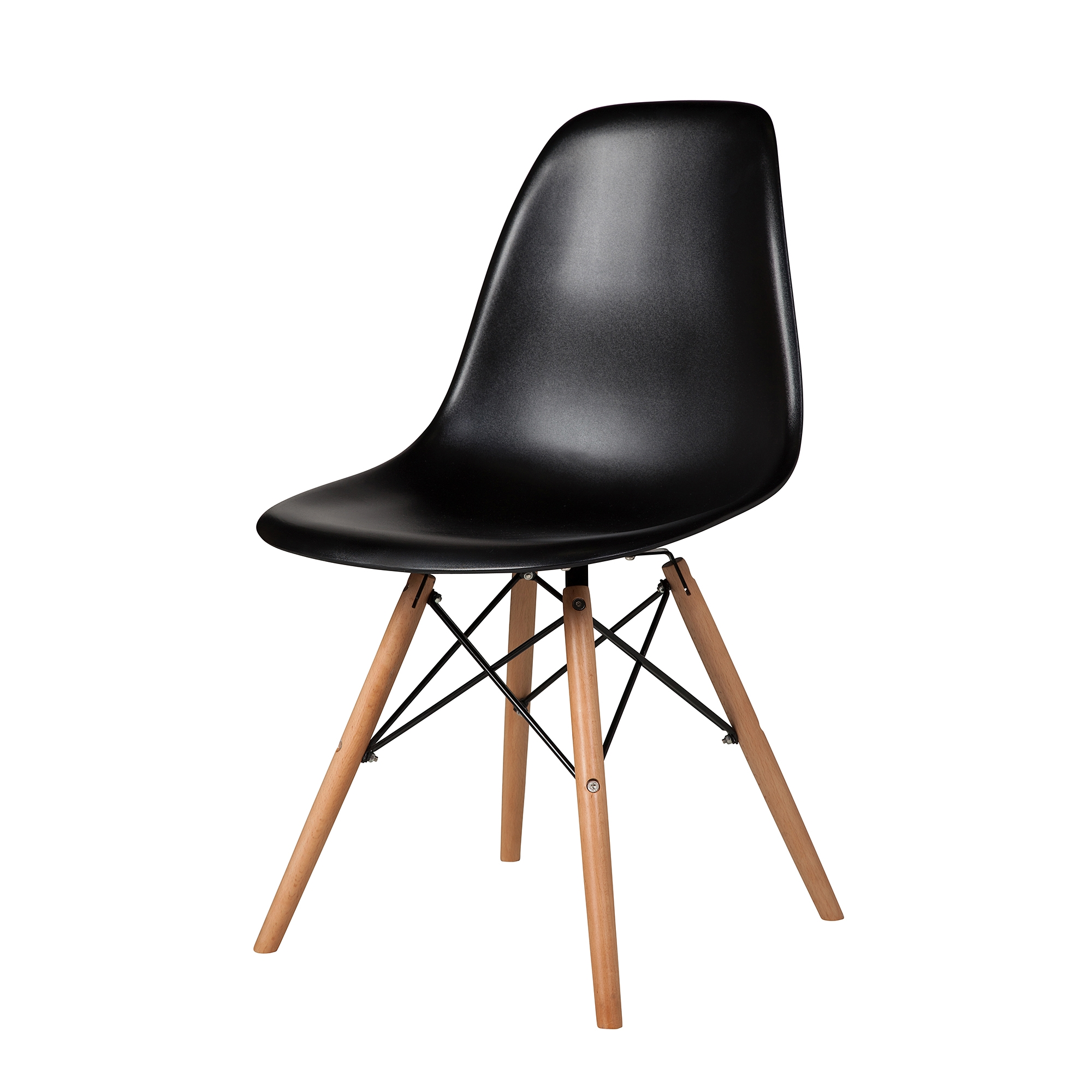 Charles Eames Dsw Side Chair Mid Century Modern Black The Khazana