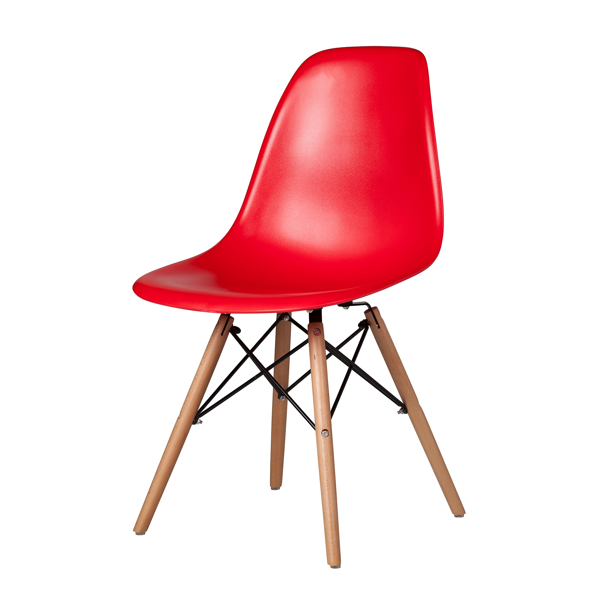 Charmant Charles Eames DSW Side Chair Mid Century Modern, Red