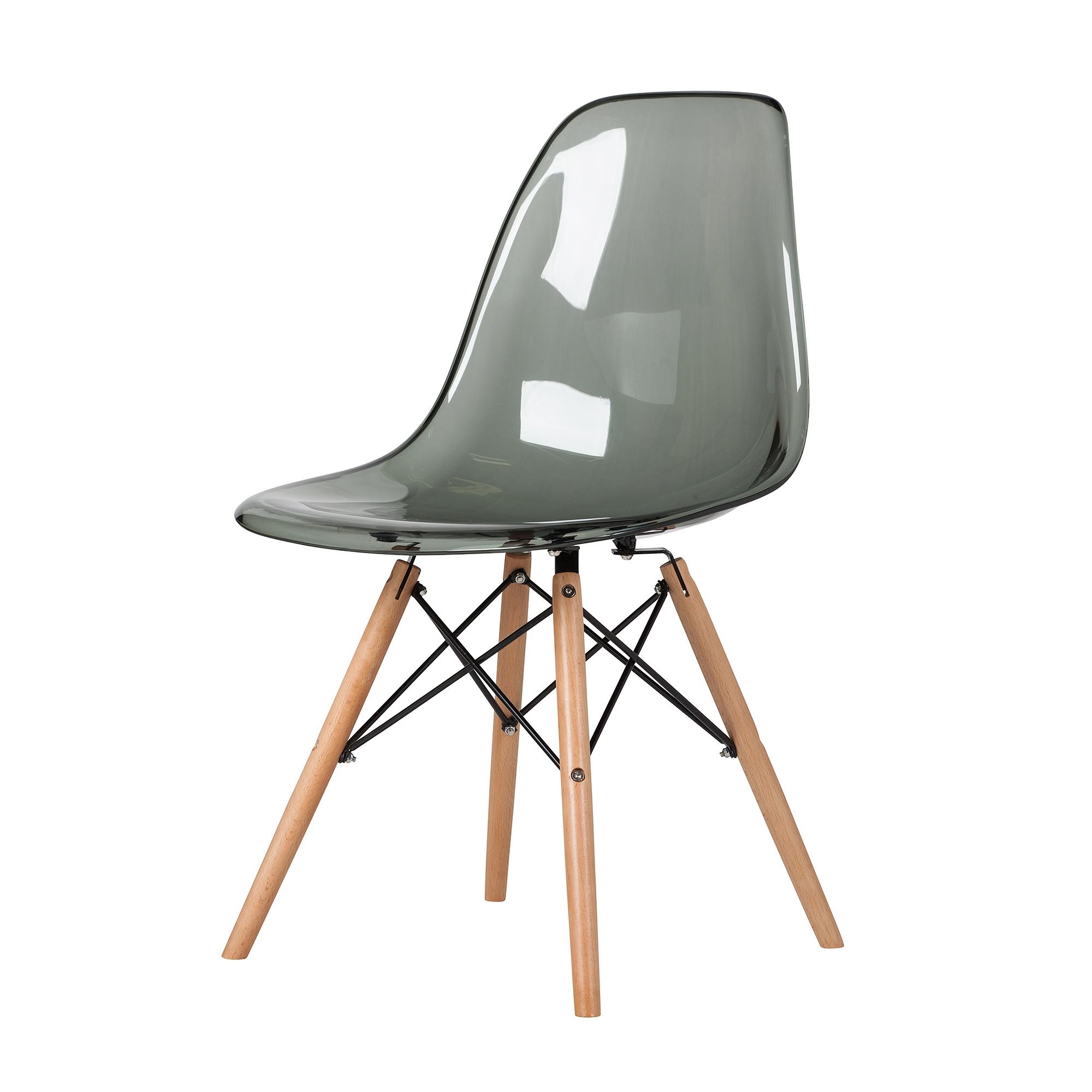 Fine Mid Century Dsw Side Chair Mid Century Modern Smoke Plastic Ibusinesslaw Wood Chair Design Ideas Ibusinesslaworg
