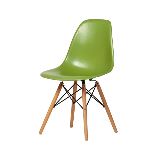 Mid Century DSW Side Chair Mid Century Modern, Lime Green