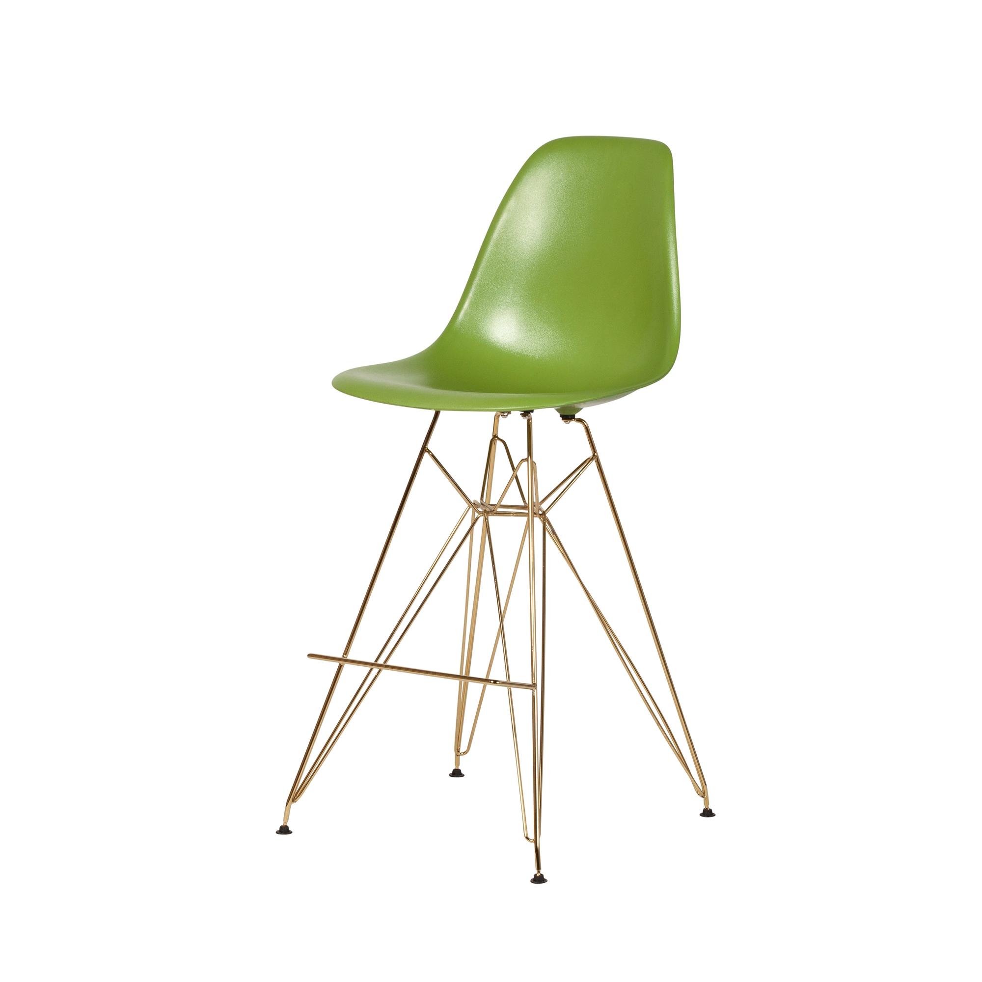 Prime Molded Acrylic Counter Stool Gold Finish Legs Lime Green Inzonedesignstudio Interior Chair Design Inzonedesignstudiocom