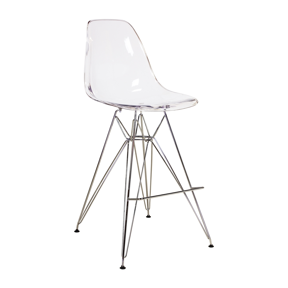 Charles Eames DSR Style Acrylic Side Chair Larger Photo Email A Friend