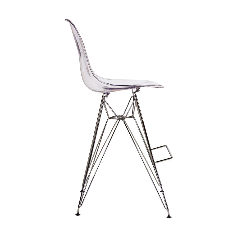 Charles Eames DSR Style Acrylic Counter Stool