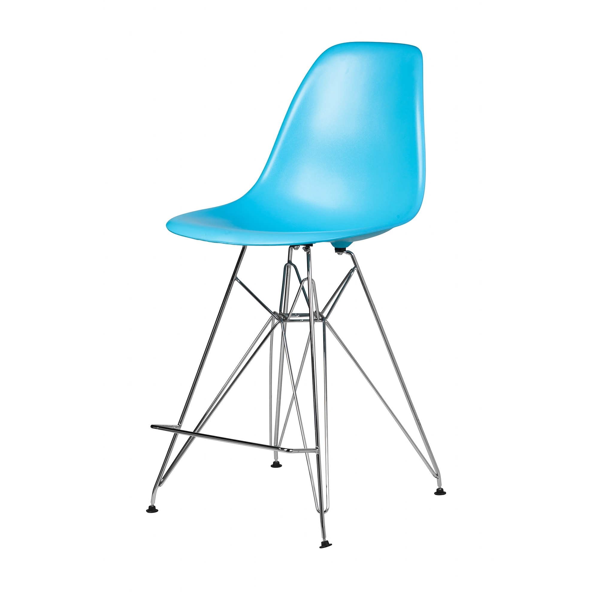 Outstanding Molded Mid Century Blue Counter Stool Machost Co Dining Chair Design Ideas Machostcouk