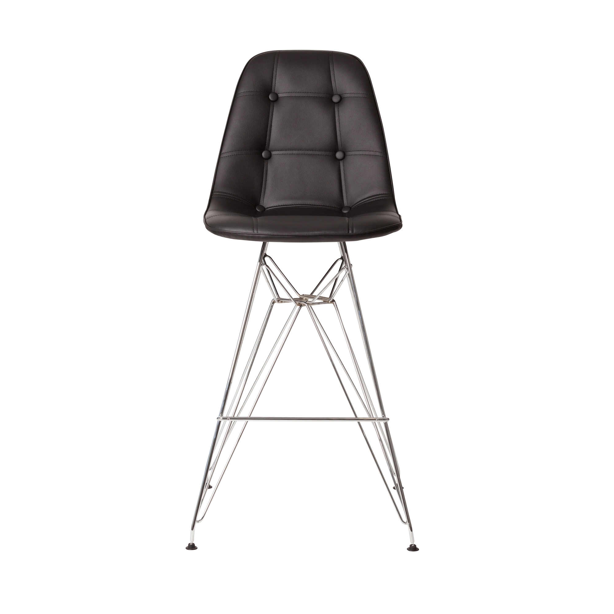 Miraculous Chrome Counter Stool In Black Leather Andrewgaddart Wooden Chair Designs For Living Room Andrewgaddartcom