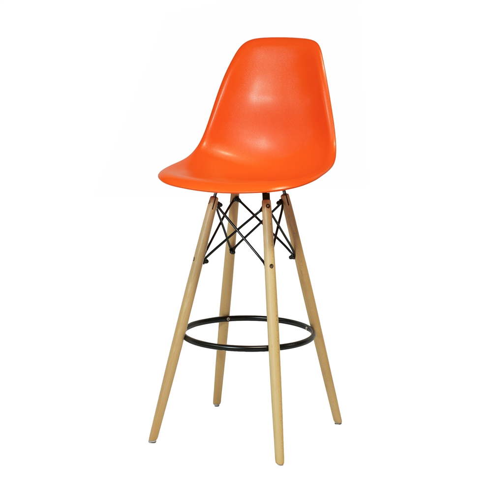 Superieur Charles Eames Style DSW Bar Stool   Orange