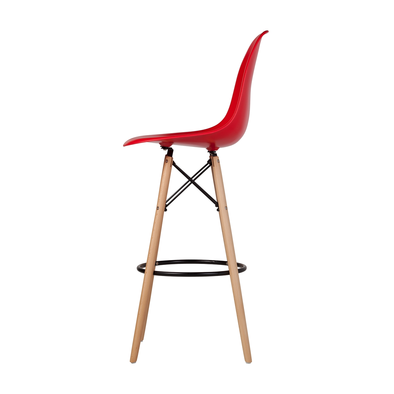 Charles Eames Dsw Bar Stool In Red The Khazana Home