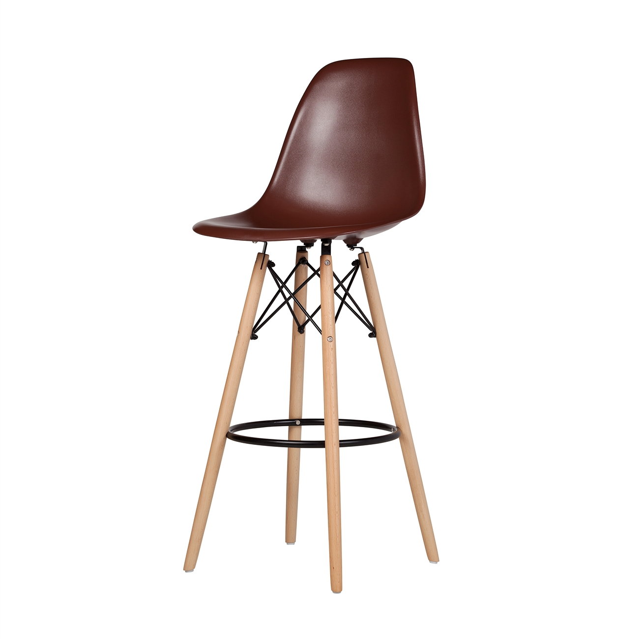 Groovy Molded Mid Century Bar Stool In Brown Beatyapartments Chair Design Images Beatyapartmentscom